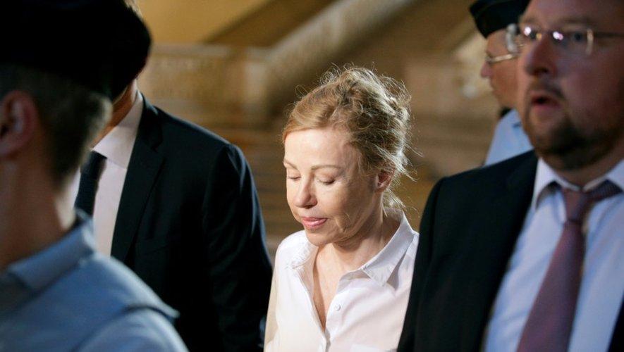 Patricia Ménard, l'ex-épouse de Jérôme Cahuzac à son arrivée le 14 septembre 2016 au palais de justice à Paris