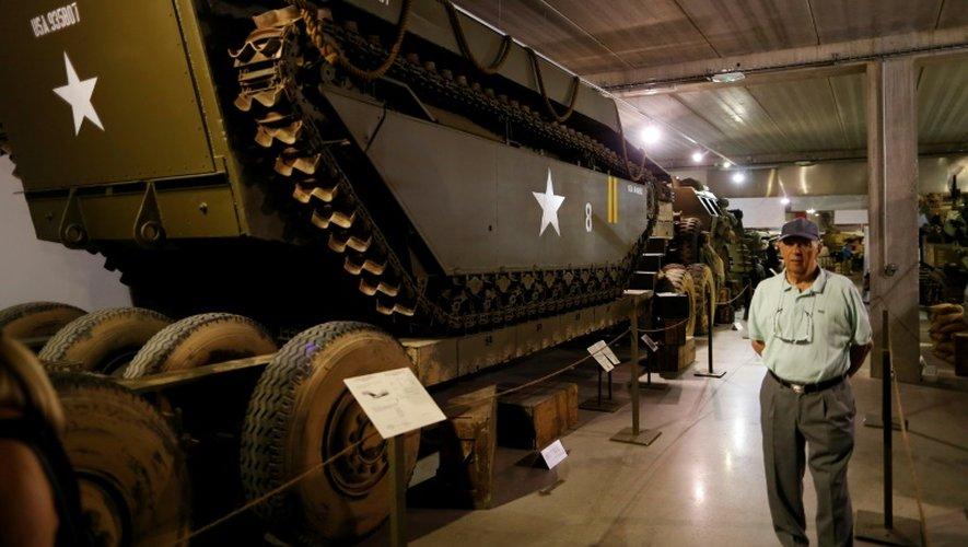 Un véhicule militaire exposé le 12 septembre 2016 au Normandy Tank Museum à Catz près de Caen