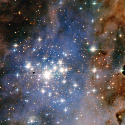 Photo fournie par l'Agence Spatiale européenne montrant une constellation d'étoiles dans la Voie Lactée, le 21 janvier 2016