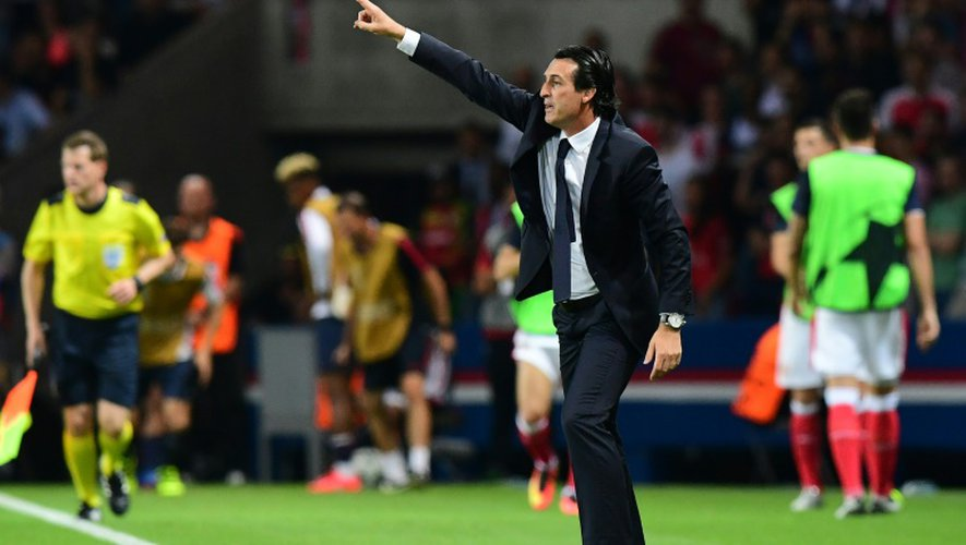 Unai Emery lors du match PSG-Arsenal