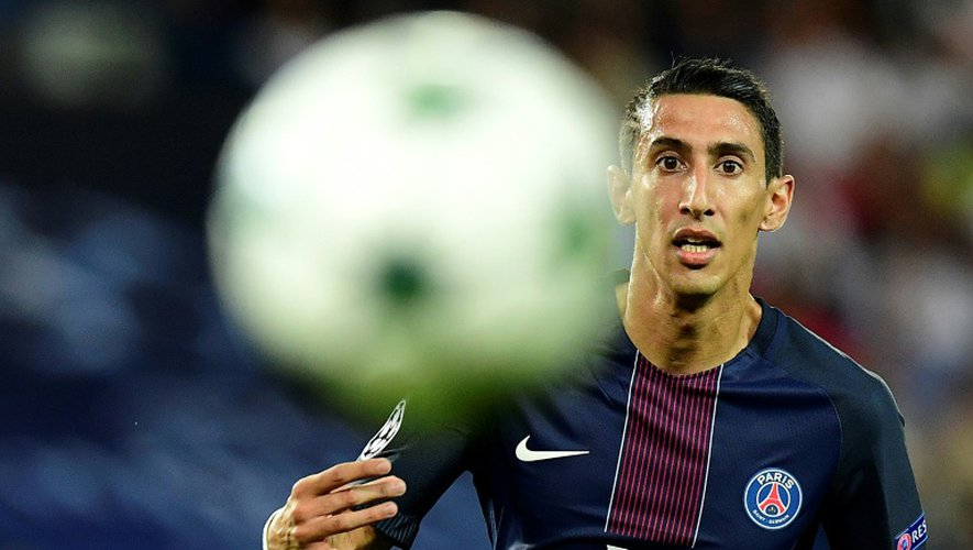Angel Di Maria. l'attaquant argentin du Paris Saint-Germain, le 13 septembre 2016 au Parc des Princes face à l'Arsenal