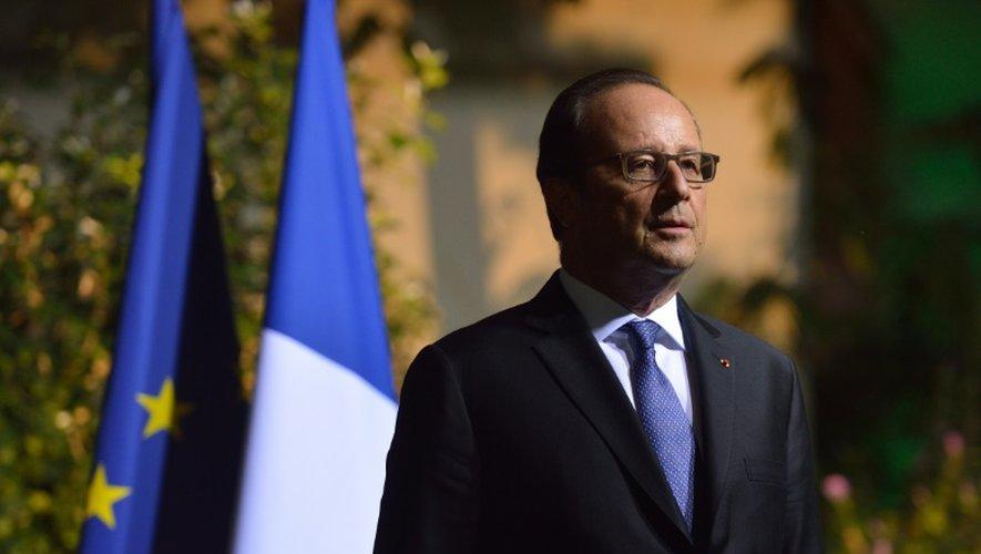Le président François Hollande, le 13 septembre 2016 à Bucarest, lors d'une visite en Roumanie
