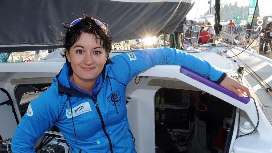 Juliette Pêtrès embarque cet après-midi sur son monocoque Class 40 au départ de la 10e Route du Rhum à Saint Malo, destination Pointe-à-Pitre en Guadeloupe.