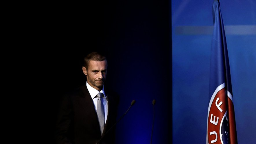 Aleksander Ceferin, le 14 septembre 2016 lors du congrès de l'UEFA