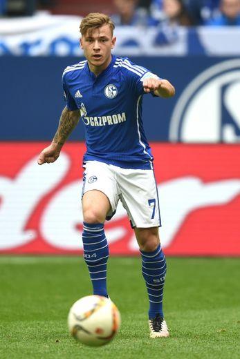 Max Meyer, le 10 avril 2016 lors du match Schalke 04 - Borussia Dortmund