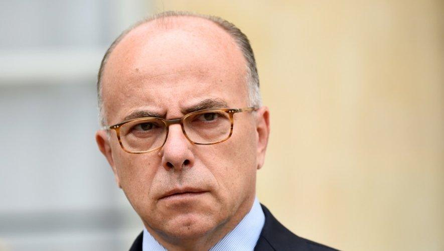 Le ministre de l'Intérieur Bernard Cazeneuve, le27 juillet 2016