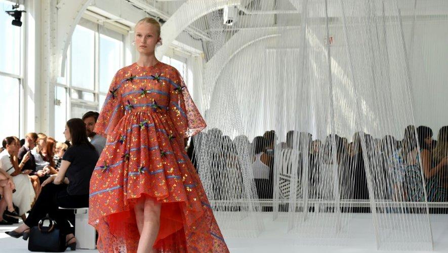 Défilé Delpozo printemps-été 2017 pendant la Fashion Week à New York le 14 septembre 2016