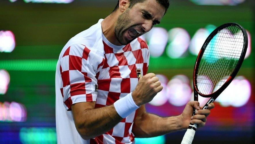 Le Croate Marin Cilic lors de son match victorieux face au Français Lucas Pouille, le 16 septembre 2016 à Zadar