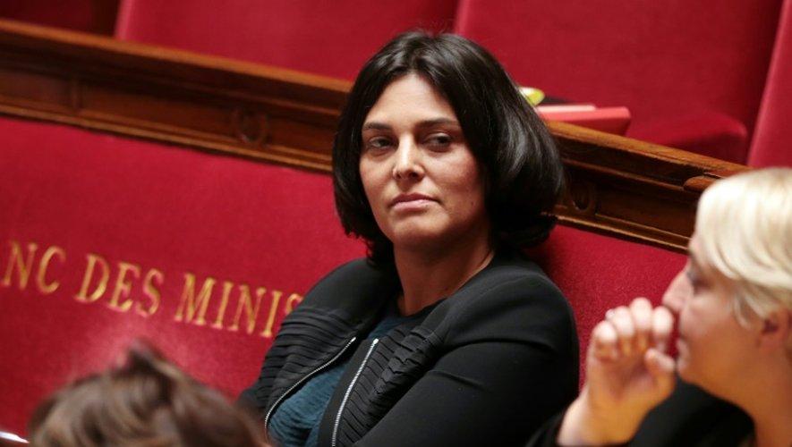 La ministre du Travail Myriam El Khomri à l'Assemblée nationale le 13 octobre 2016