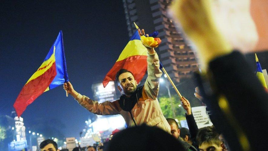 Manifestation contre la corruption de la classe politique roumaine, le 5 novembre 2015 à Bucarest