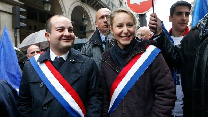 David Rachline et Marion Marechal-Le Pen à Fréjus, le 1 mai 2015