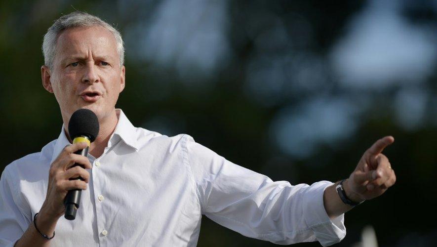 Bruno Le Maire, candidat à la primaire de la droite, le 03 septembre 2016 à la Baule (Loire-Atlantique)