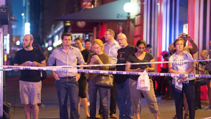 Le site de l'explosion sur la 23e rue à New York interdit d'accès le 17 septembre 2016