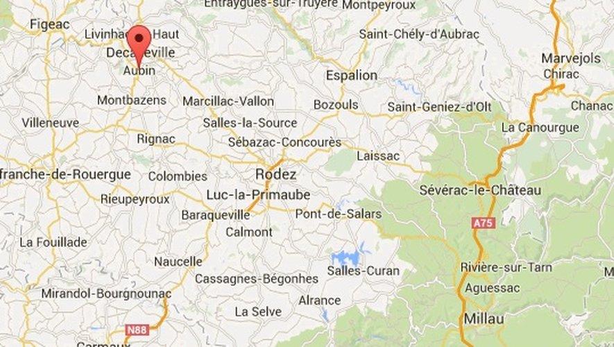 L'incident s'est produit à Aubin, commune du Bassin decazevillois.