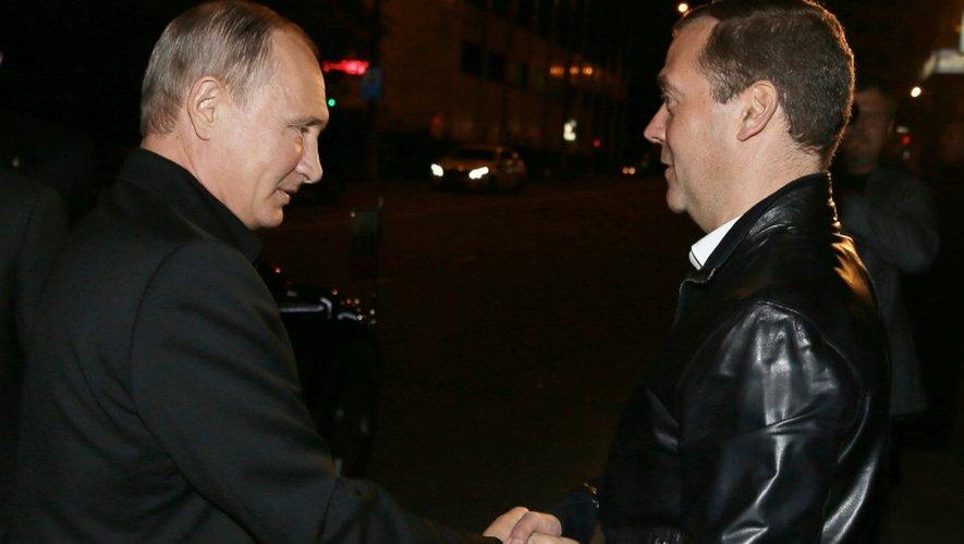Premier ministre Dmitri Medvedev, également tête de liste de Russie Unie, le 18 septembre 2016 à Moscou