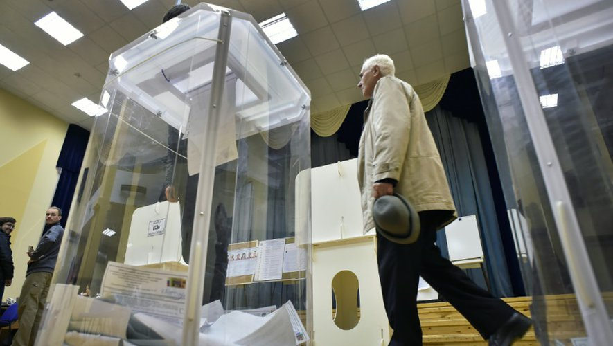 Un bureau de vote à Moscou le 18 septembre 2016