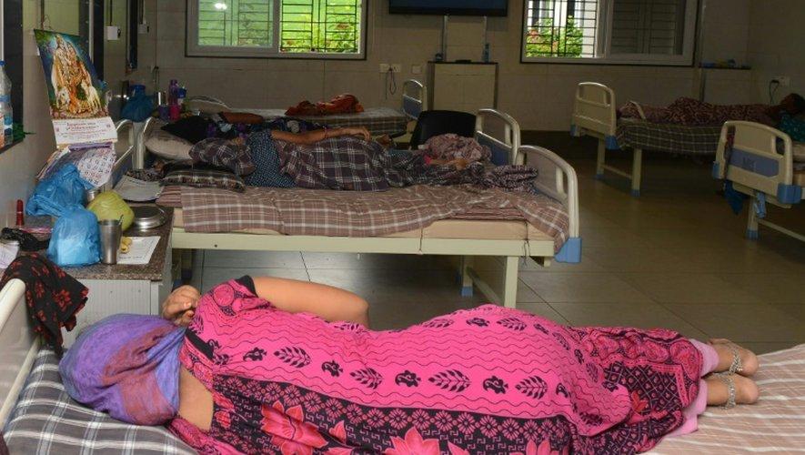 Des mères porteuses, le 1er septembre 2016 à l'hôpital Akanksha à Anand