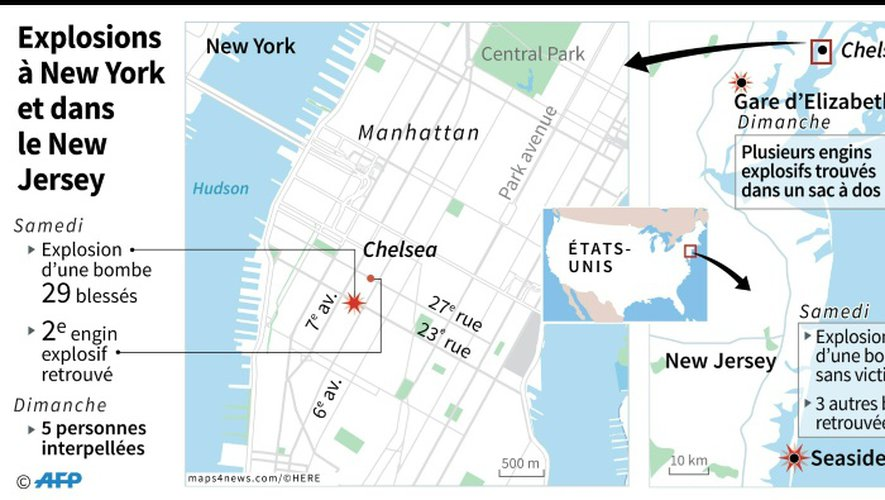 Explosions à New York et dans le New Jersey