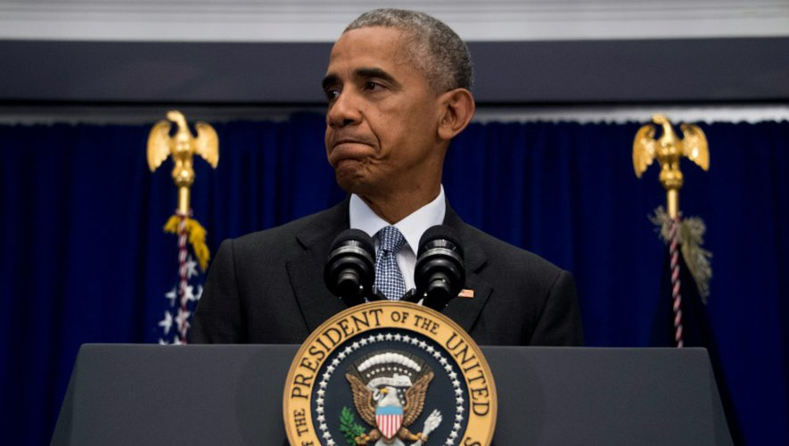 """Le président des Etats-Unis, Barack Obama, lors d'une conférence de presse organisée à New York, le 19 septembre 2016, durant laquelle il a appellé à ne pas """"succomber à la peur"""""""