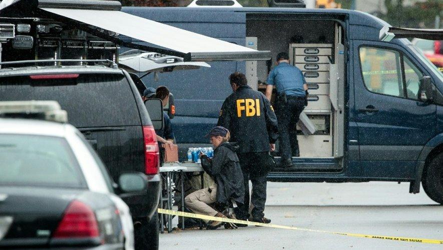 Des policiers du FBI enquêtent le 19 septembre 2016 sur les lieux où Ahmad Khan Rahami a été arrêté à Elizabeth, New Jersey
