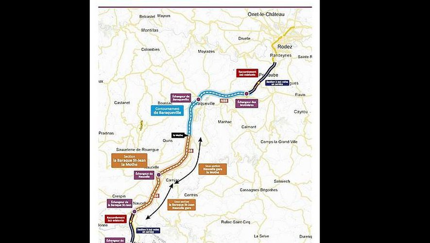 Si la section Saint-Jean - La Mothe devrait bientôt ouvrir, le contournement de Baraqueville ne sera pas mis en service avant 2019. Dans le meilleur des cas.