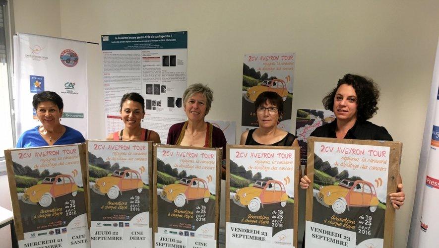 Le Dr Laurence Michellutti (au centre) est présidente du Comité départemental de sensibilisation pour le dépistage des cancers en Aveyron,.