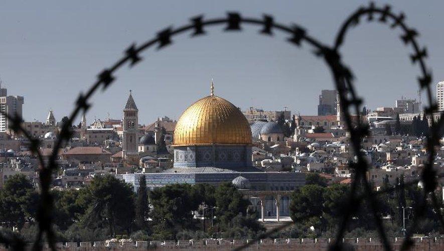 Vue du Dôme de la Mosquée d'Al-Aqsa, le 10 novembre 2014 à Jérusalem
