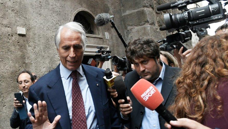 Le patron du Comité olympique italien (CONI) Giovanni Malago, le 21 septembre 2016 à Rome