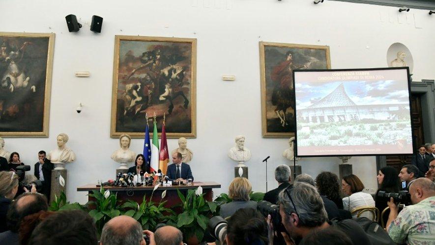 Conférence de presse de la maire de Rome, le 21 septembre 2016 dans la capitale italienne