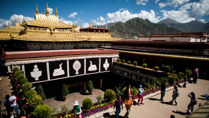 Le temple de Jokhang, le 10 septembre 2016 à Lhassa au Tibet