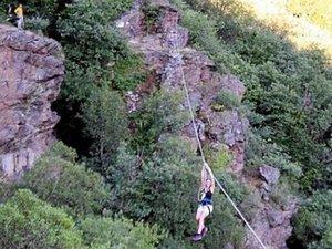 Bloqué sur une tyrolienne, un Aveyronnais secouru sur une via ferrata