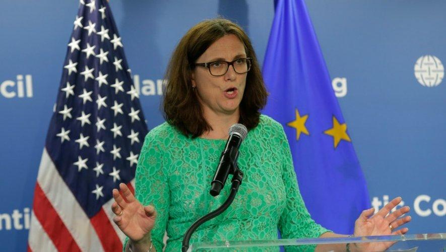 La commissaire européenne au Commerce, Cecilia Malmström, le 29 juin 2016 à Washington