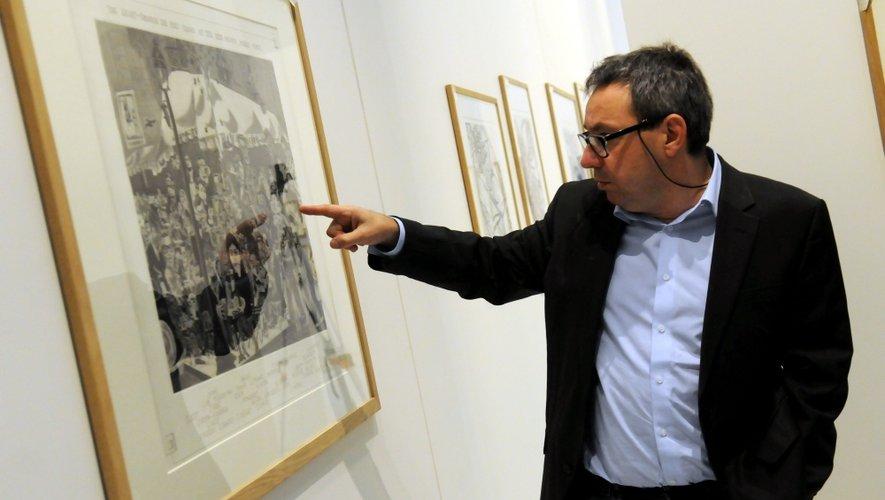 """Conservateur du musée Soulages, Benoît Decron, présente les oeuvers d'un artiste """"qui a su accompagner la création et les exigences des plus grands peintres""""."""
