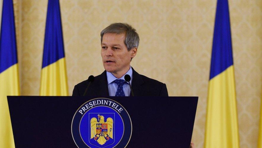 Ici lors de son premier discours en tant que Premier ministre roumain.