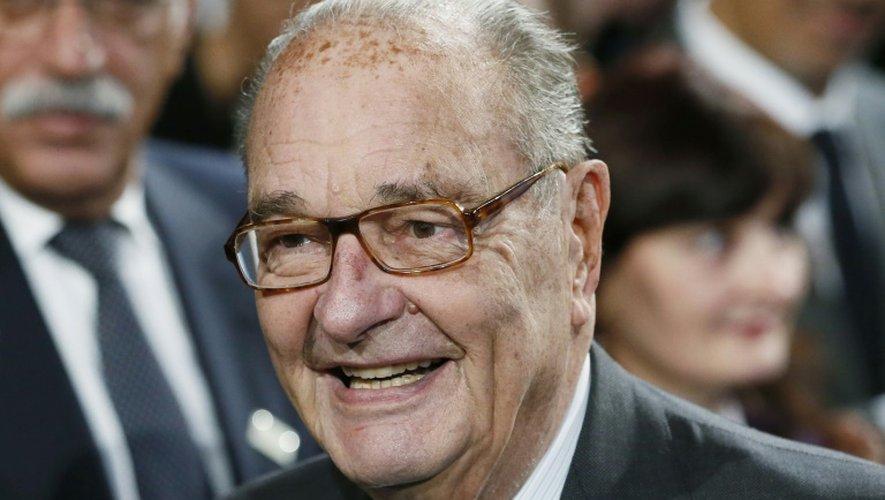 L'ancien président Jacques Chirac le 21 novembre 2014 au musée Quai Branly à Paris