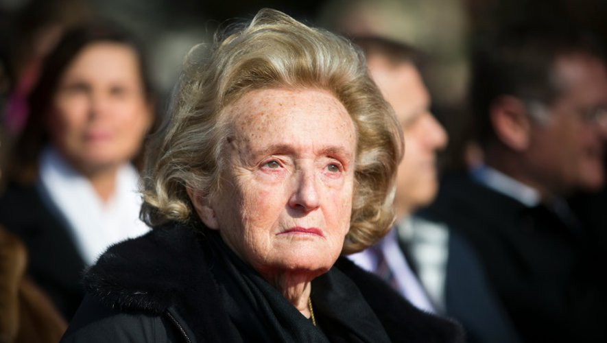 Bernadette Chirac le 12 mars 2016 au Plessis-Robinson près de Paris