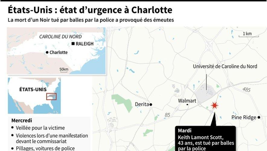 Etats-Unis : état d'urgence à Charlotte