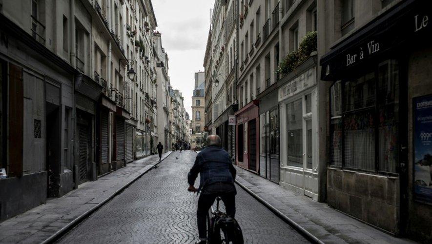 Une rue de Paris lors de la journée sans voiture, le 25 septembre 2016
