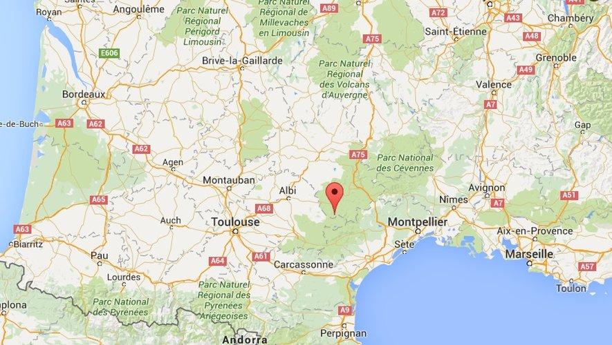 Sud-Aveyron: deux morts et quatre blessés dans une sortie de route