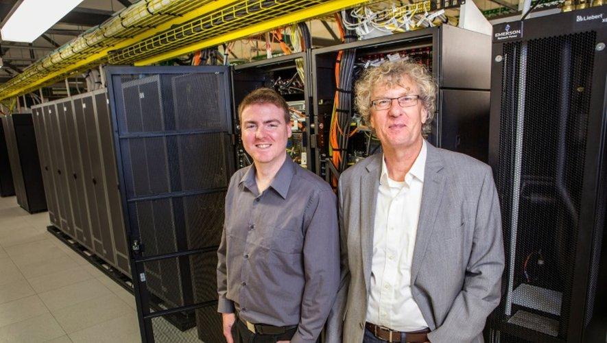Le compositeur Jason Long et le professeur Jack Copeland sur une photo fournie par l'université de Canterbury le 26 septembre 2016