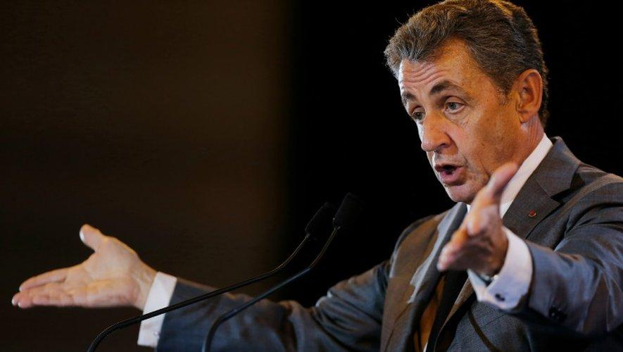 Nicolas Sarkozy,  candidat à la primaire de la droite, à Dozulé dans le Calvados, le 26 septembre 2016