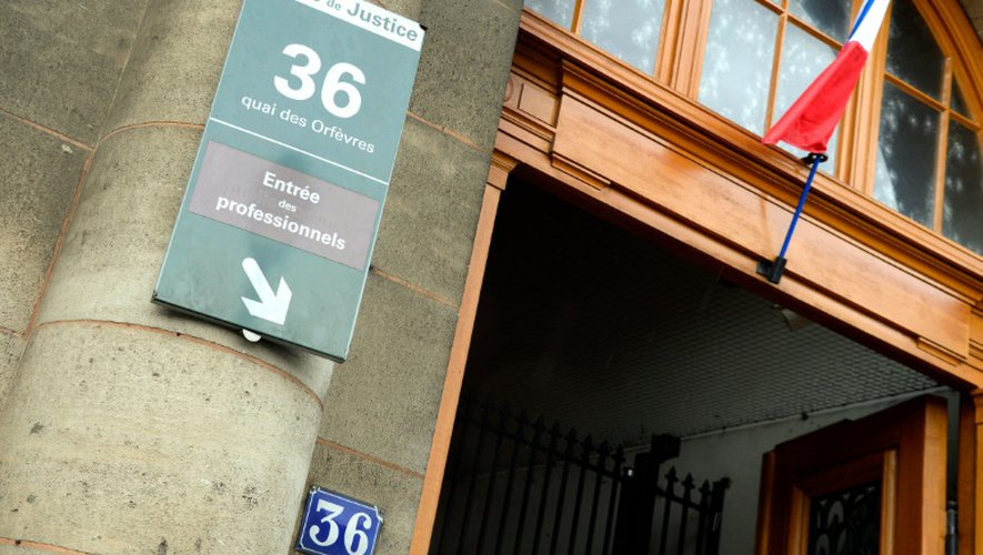 Vue en date du 6 août 2014 de l'entrée de la police judiciaire au 36 Quai des Orfèvres à Paris