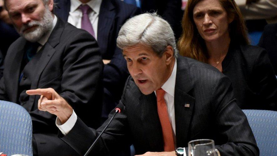 Le secrétaire d'Etat américain John Kerry s'exprime devant le Conseil de sécurité de l'ONU le 21 septembre 2016