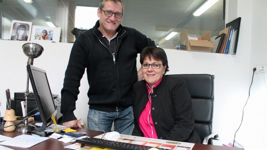 Cathy Capelle avec Francis Blandinières, homme de cœur et tête pensante.