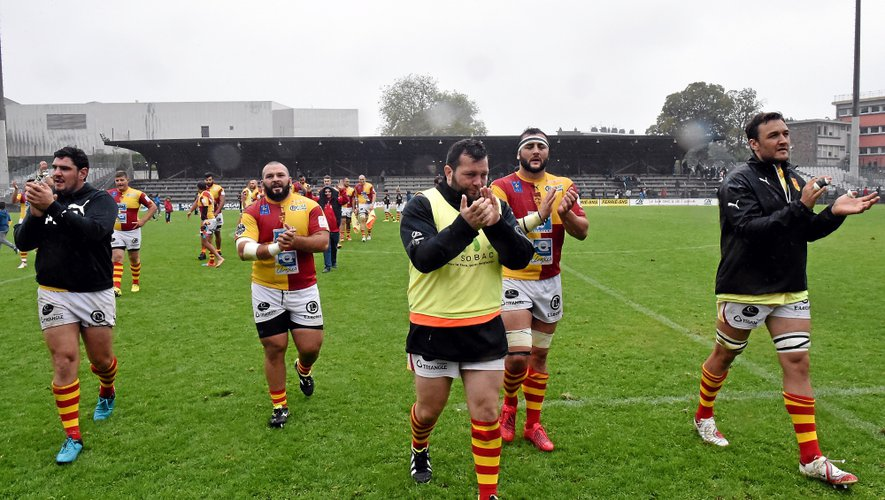 Comme son voisin Aurillac, précurseur en la matière, Rodez s'est souvent tourné vers la Géorgie pour étoffer son effectif. Cette saison, ils sont deux piliers: Dato Okriashvili (photo) et Levani Gomiashvili.