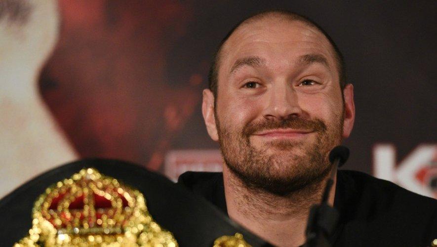 Le poids lourd britannique Tyson Fury, le 27 avril 2016 à Manchester