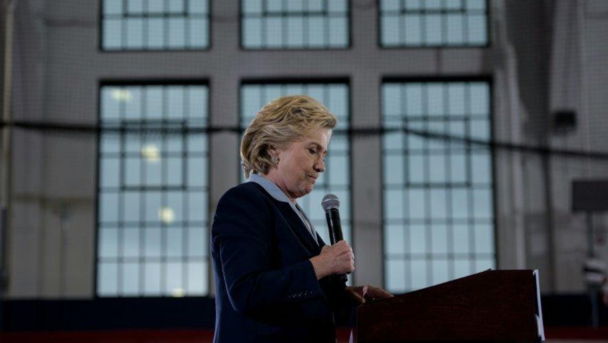 La candidate démocrate à la Maison Blanche Hillary Clinton en campagne à Akron, Ohio, le 3 octobre 2016