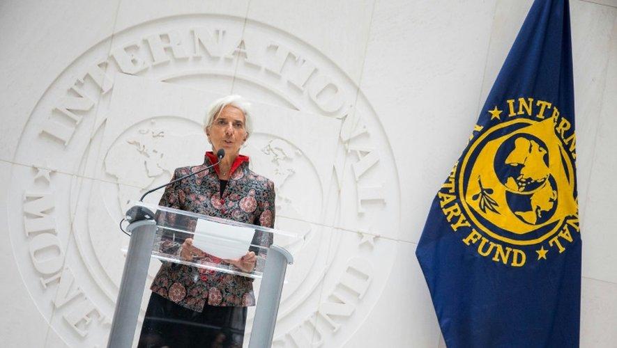 Christine Lagarde, directrice générale du FMI, le 30 septembre 2016 au siège de l'institution à Washington