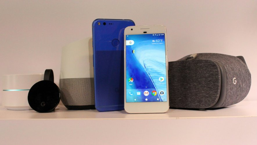 """Présentation du smartphone Google """"Pixel"""" à San Francisco en Californie, le 4 octobre 2016"""