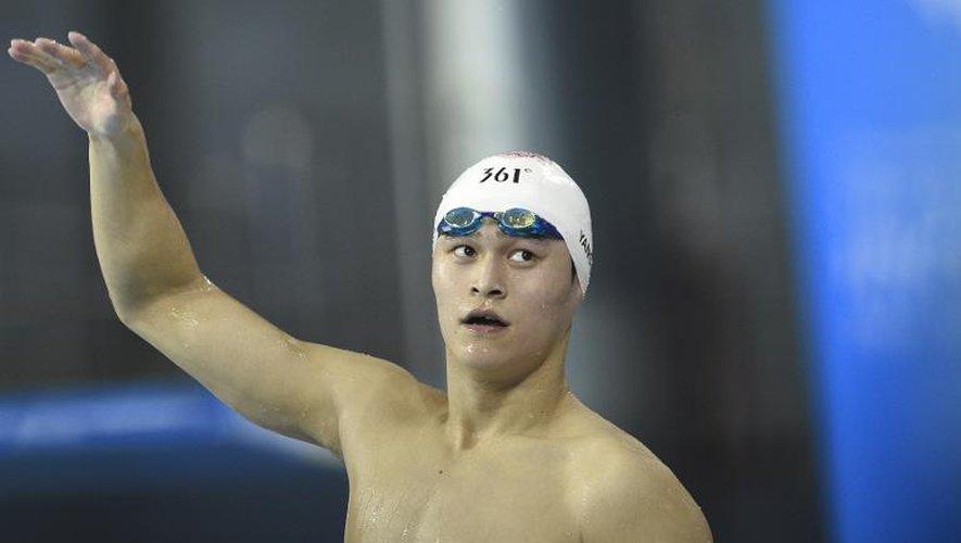 Le Chinois Sun Yang après être devenu champion d'Asie du 1500 m nage libre le 26 septembre 2014 à Incheon en Corée du Sud